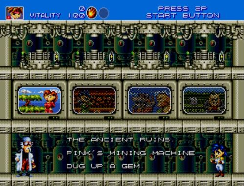 Gunstar Heroes stage select
