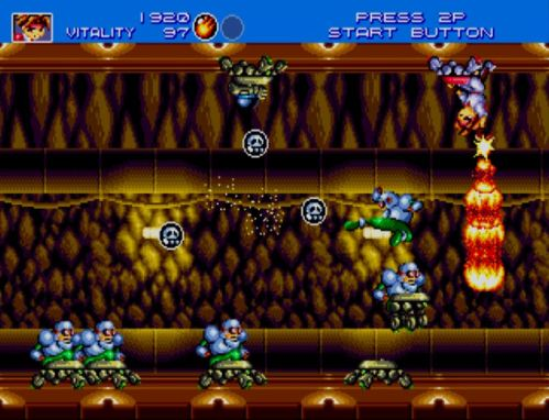 Gunstar Heroes tunnel